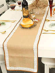 cheap -1Pc Christmas  Lace Trim Table Flag Dining Atmosphere Christmas Design Table Mat Tablecloth