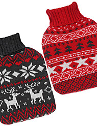 cheap -Large Bag Warm Fabric Hot Christmas Series Knitted Water Bottle Cover
