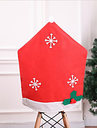 cheap -Christmas Snowflake Red Chair Back Cover Chair Slipcover X'mas Decoration/ 1 pcs Festive Decor