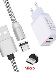 cheap -Magnetic Micro USB Charge Cable Honor 8A 8X Meizu V8 M6 M5S QC 3.0 Fast charger For Samsung A7 J2 A6 Asus Zenfone 3 Max ZC520TL