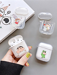 cheap -AirPods Case TPU Soft Cartoon Lovely Pattern Portable For AirPods1 AirPods2 (AirPods Charging Case Not Included)