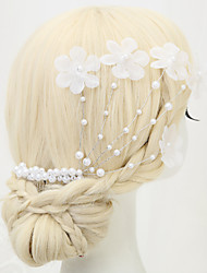 cheap -Imitation Pearl / Fabrics / Alloy Hair Combs with Imitation Pearl / Flower 1 Piece Wedding Headpiece