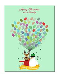 Недорогие -Рождество / фестиваль Аксессуары для вечеринок Холст для печати С узором холст Новогодняя тематика / Сад / Классика