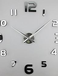 cheap -FASHION in THE CITY 3D DIY Wall Clock Creative Design Mirror Surface Wall Decorative Sticker Watches