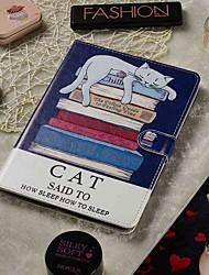 Недорогие -регулируемый чехол для Samsung Galaxy / Acer / Asus универсальный кошелек / держатель для карт / с подставкой для всего тела книга книга кошка искусственная кожа 8-8,9 дюйма