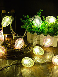 cheap -Egg Bulb Shape Lamp String 4M 20Led Lamp Halloween Decoration Festival Decoration Aa Battery Power Supply 1Pc