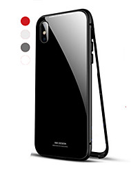 cheap -Magnetic Case For Apple iPhone X / iPhone XR / iPhone 8 Plus / iPhone 8 Shockproof / Single-sided Magnetic Back Cover Solid Colored Hard Metal
