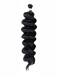 cheap -Braiding Hair Wavy Costume Accessories Synthetic Extentions Synthetic Hair 1 Piece Hair Braids Black 18 inches Easy dressing Comfy African Braiding Holiday Festival Other