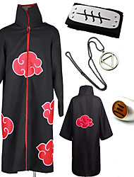 cheap -Inspired by Naruto Akatsuki / Hidan Anime Cosplay Costumes Japanese Cosplay Suits / Cosplay Accessories Print 1 Ring / Cloak / Necklace For Men's / Headband / Headband