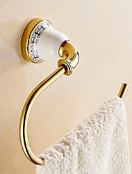 cheap -Towel Bar New Design / Cool Modern Brass / Ceramic 1pc towel ring Wall Mounted
