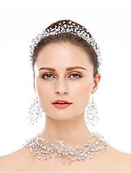 cheap -Women's Head Jewelry Hoop Earrings Necklace Earrings Jewelry Silver For Wedding