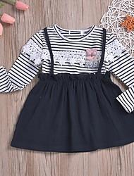 cheap -Baby Girls' Basic Leopard Long Sleeve Dress Black