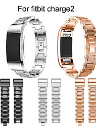 cheap -Watch Band Wrist Strap For Fitbit Charge 2 Metal Stainless Steel Rhinestone Bracelet Wristband