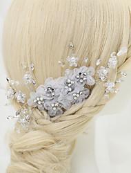 cheap -Crystal / Rhinestone / Fabrics Hair Combs with Rhinestone / Crystal / Flower 1 Piece Wedding Headpiece