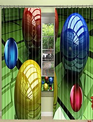 cheap -Three Dimensional Round Color Ball Digital Printing 3D Curtain Shading Curtain High Precision Black Silk Fabric High Quality Curtain
