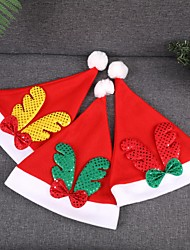 cheap -3 Pc kids Santa Claus Christmas hats 3 colors Sequin Antlers Christmas cap for party kids