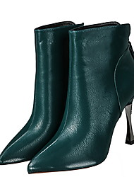 cheap -Women's Boots Stiletto Heel Pointed Toe Suede Mid-Calf Boots Fall & Winter Black / Green / Red