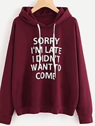 cheap -Women's Pullover Hoodie Sweatshirt Letter Casual Hoodies Sweatshirts  White Black Purple