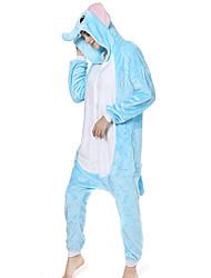 cheap -Adults' Kigurumi Pajamas Elephant Animal Onesie Pajamas Coral fleece Blue Cosplay For Men and Women Animal Sleepwear Cartoon Festival / Holiday Costumes
