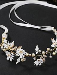 cheap -Alloy Headbands / Hair Accessory with Crystal / Rhinestone / Pearls / Flower 1 Piece Wedding Headpiece