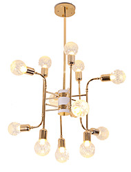 cheap -12 Bulbs 12 Lights Luxury Gold Chandelier Candle-style European Modern Lights for Living Room Dinning Room Shops Caffe LED G9 Bulbs Not Included