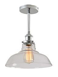 cheap -1-Light 28 cm Pendant Light Glass Glass Industrial Chrome / Electroplated Contemporary / Traditional / Classic 110-120V / 220-240V
