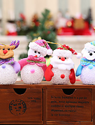 cheap -4pcs Christmas Gift Snowman Hanging Light Pendants Flashing Christmas Tree Ornaments