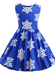 cheap -Audrey Hepburn Party Costume JSK / Jumper Skirt Kid's Girls' Retro Vintage Halloween Halloween Festival / Holiday Polyster Blue Carnival Costumes / Dress
