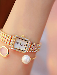 cheap -Women's Quartz Watches Luxury Fashion Silver Gold Rose Gold Stainless Steel Quartz Rose Gold Gold Silver Casual Watch 30 m 1 pc Analog One Year Battery Life