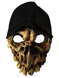 cheap -Mask Halloween Props Halloween Mask Inspired by Skeleton / Skull Scary Movie Black Masks Halloween Halloween Men's Women's