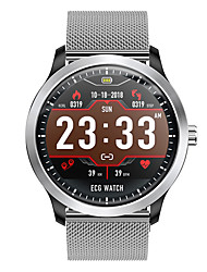 cheap -DN58 Smartwatch Stainless Steel BT Fitness Tracker Support Notify/ ECG/ Blood Pressure Measurement Sports Smart watch for Samsung/ Iphone/ Android Phones