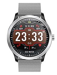 Недорогие -dn58 smartwatch из нержавеющей стали bt фитнес-трекер поддержка уведомлять / ЭКГ / измерение артериального давления спортивные смарт-часы для телефонов Samsung / Iphone / Android