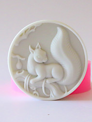 cheap -Squirrel Shaped Soap Mold Silica Gel Mold DIY Tool Hand Soap Mold