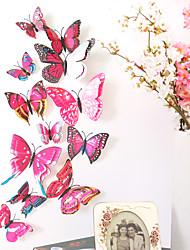 Недорогие -животные двухслойные наклейки на стены 3d наклейки на стены декоративные наклейки на стены наклейки на выключатели света наклейки на холодильник свадебные наклейки пвх домой - роза красная