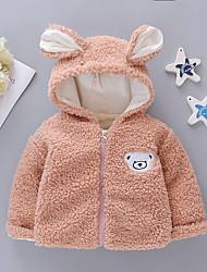 Недорогие -малыш Девочки Классический Однотонный Обычная Куртка / пальто Пурпурный
