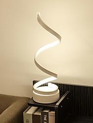 abordables -spirale courbé led table lampe lampe contemporain minimaliste éclairage design acrylique matériel parfait design créatif pour chambre salon or blanc