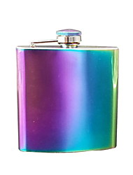 cheap -Gifts Infinity Raindow Stainless Steel Hip Flask Assorted Colors, 8oz, (Rainbow Flask)
