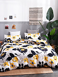cheap -Duvet Cover Sets Ultra Soft Polyester/ Polyamide Floral/ Botanical Printed 3 Piece Bedding Sets