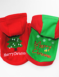 cheap -Dog Hoodie Snowflake Christmas Christmas New Year's Dog Clothes Puppy Clothes Dog Outfits Red Green Costume for Girl and Boy Dog Polar Fleece Cotton XS S M L XL