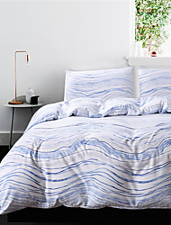 cheap -Duvet Cover Sets Stripes / Ripples Polyester / Polyamide Reactive Print / Printed 3 PieceBedding Sets