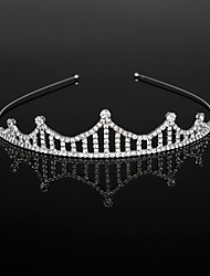 cheap -Cubic Zirconia / Rhinestone / Alloy Headbands / Headdress / Headpiece with Crystals / Rhinestones 1 Piece Wedding / Birthday Headpiece