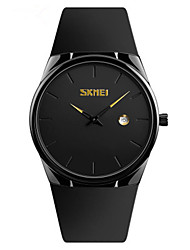 cheap -SKMEI Men's Dress Watch Quartz Stylish PU Leather Black / Blue / Red 30 m Water Resistant / Waterproof Calendar / date / day New Design Analog Fashion - Black Green Red Two Years Battery Life