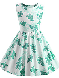 cheap -Audrey Hepburn Party Costume JSK / Jumper Skirt Kid's Girls' Retro Vintage Halloween Halloween Festival / Holiday Polyster Green Carnival Costumes / Dress