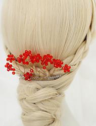 cheap -Crystal / Alloy Hair Combs with Crystal 1 Piece Wedding Headpiece