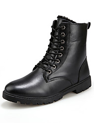 cheap -Men's Combat Boots PU Winter Casual / British Boots Walking Shoes Non-slipping Black / Brown / Outdoor