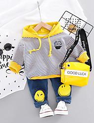 cheap -Baby Boys' Active / Basic Geometric / Print Print Long Sleeve Regular Regular Clothing Set Orange