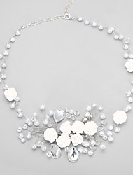 cheap -Necklace Women's Geometrical Imitation Pearl Blessed European Wedding White 42 cm Necklace Jewelry 1pc for Wedding