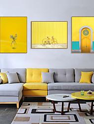 cheap -Framed Art Print Framed Set - Landscape Scenic PS Illustration Wall Art