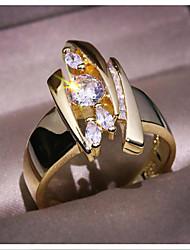 cheap -Women's Ring 1pc Gold Brass Imitation Diamond Geometric Fashion Gift Daily Jewelry Geometrical Star Cool