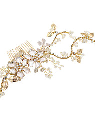 cheap -Crystal / Alloy Headbands / Headdress with Crystal / Rhinestone / Floral / Metal 1pc Wedding / Party / Evening Headpiece